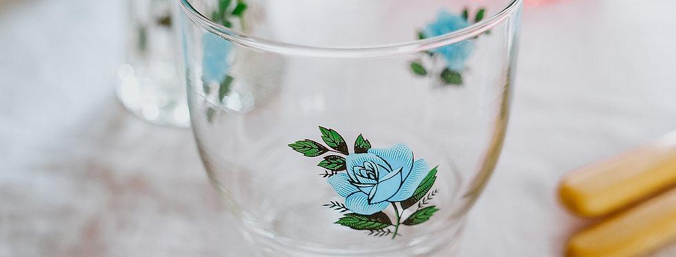 Blue Flower Glasses (Set of 6)