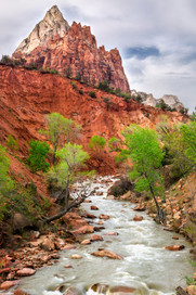 Orange and Green Zion River Canyon.jpg