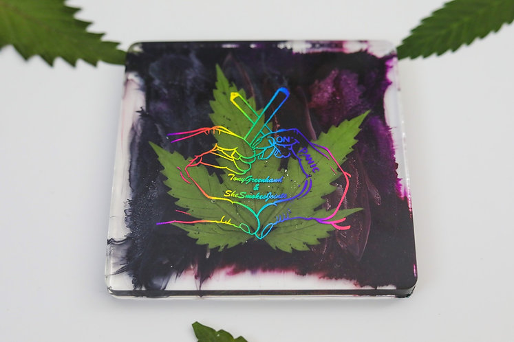 Colorful Heart Hands Coaster