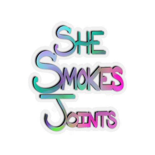 She Smokes Stickers