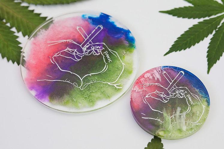 Shimmer Heart Hands Coaster Set