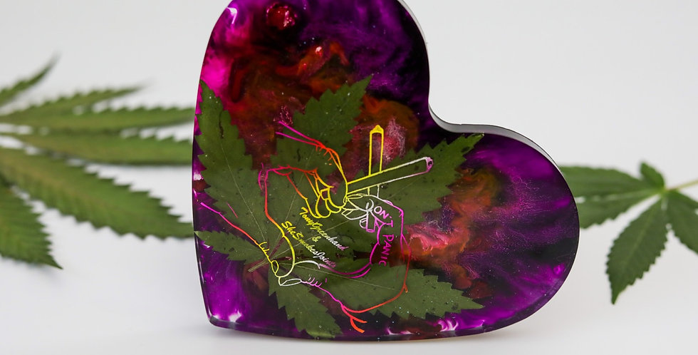 Holographic Heart Coaster
