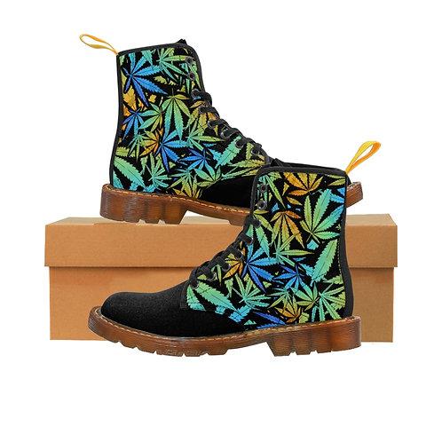 Leaf Canvas Boots - Black Toe