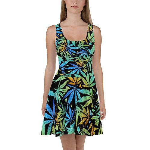 Leaf Skater Dress