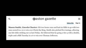 Mason Smith with two bombs in one night