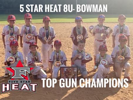 5 Star heat 8u-Bowman Top Gun Champions