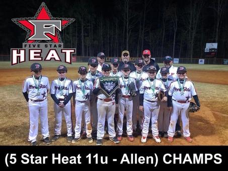 5 Star Heat 11u - Allen 💥 Top Gun Champs💥