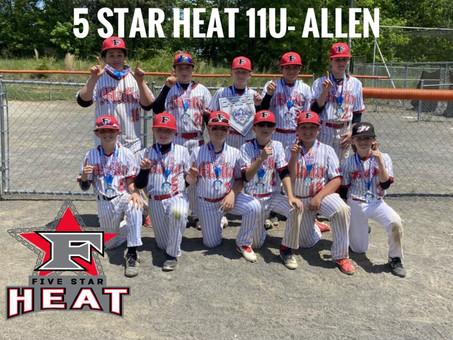 5 Star Heat 11u- Allen Top gun one day Champions