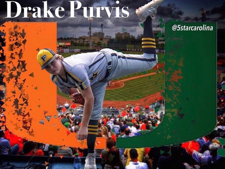 Drake Purvis signs to the University of Miami
