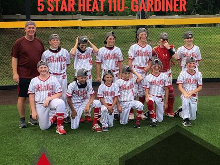5 Star Heat 11u- Gardiner take home the championship