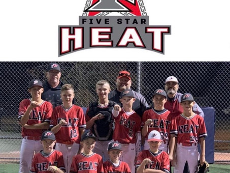 Tournament Champions!! 5 Star Heat 11U-Holloway