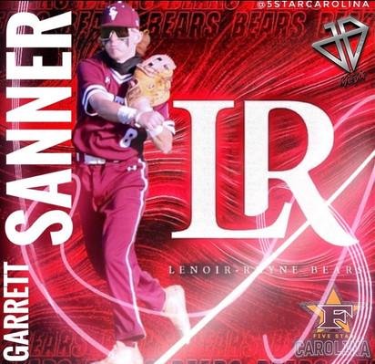 Garrett Sanner 2022 Grad Lenoir Rhyne