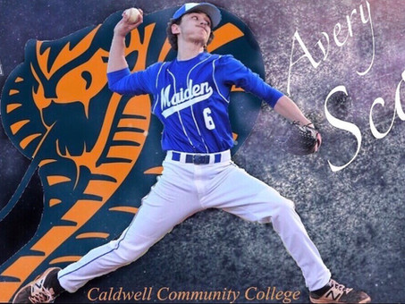 Avery Scott signs to Caldwell Community College