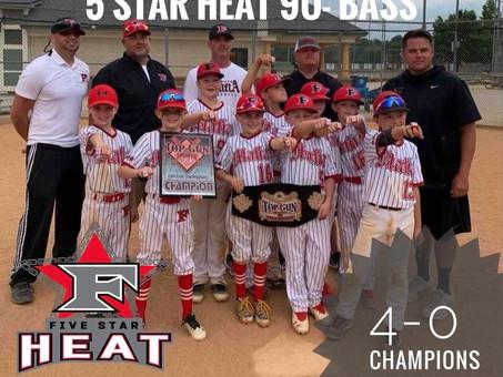 5 Star Heat 9u-Bass takes home Beast of the East Super NIT Win