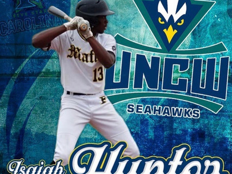 Recognizing Isaiah Hunter on his commitment to UNCW!!