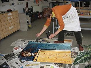 Susanne doing Jackson Pollock.jpg