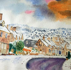 Snow Scene by Cathy Simmons