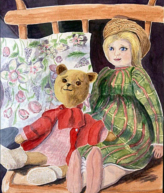 Dolly and Teddy by Constance Turner