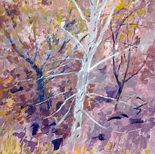 Silver Birch by Margaret Hurst,