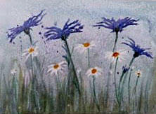 Cornflowers and Daisies by Linda Gray