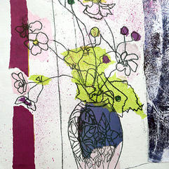 Japanese Anemones by Christine Baker
