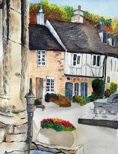 Street Corner by Cathy Simmons