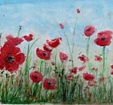 Poppy Field by Linda Gray