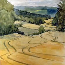 Landscape, France by Margaret Hurst