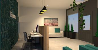 Essence Chiropractic | Reception 3D Render