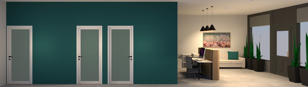 Essence Chiropractic | Corridor & Reception 3D Render