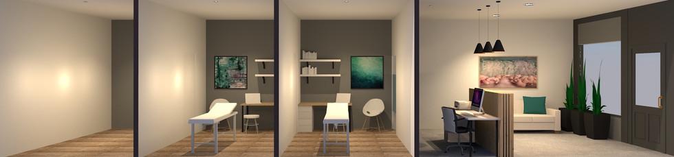Essence Chiropractic | Treatment Rooms & Reception 3D Render