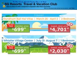 SG Resorts Club Rates