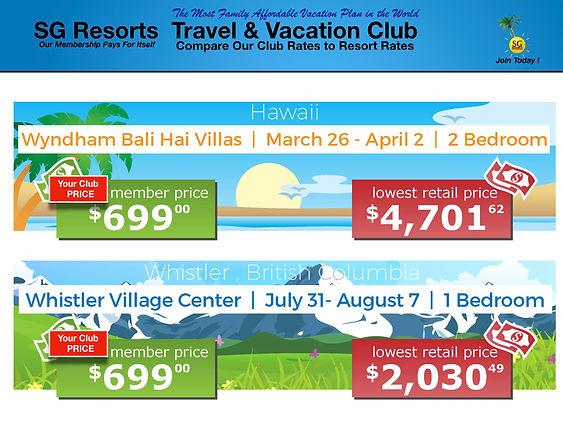 SG Resorts Membership Savings