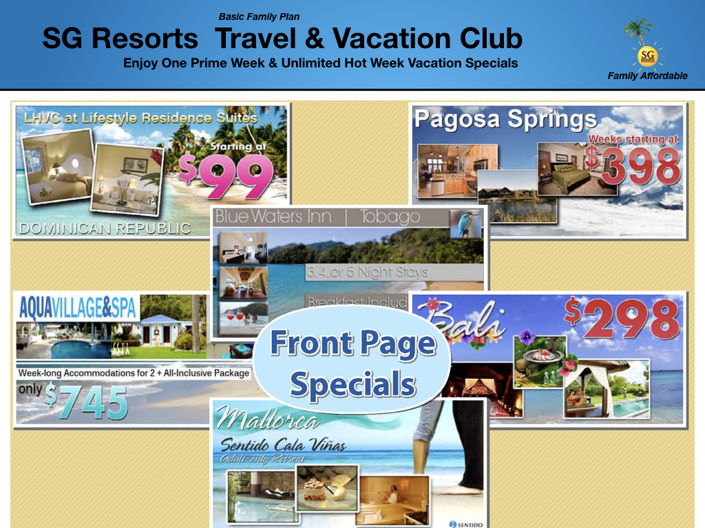 SG CLUB DESTINATIONS