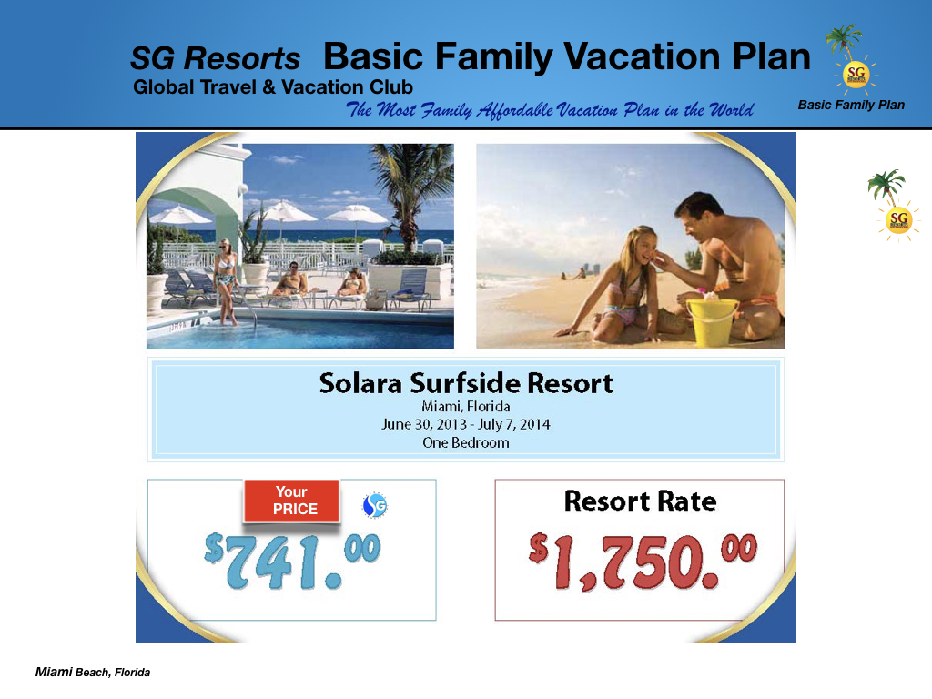 SG Resorts Membership Plans from $59