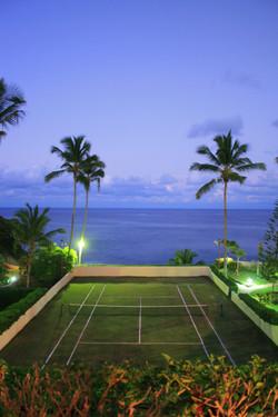 Oceanfront Grass Tennis Court