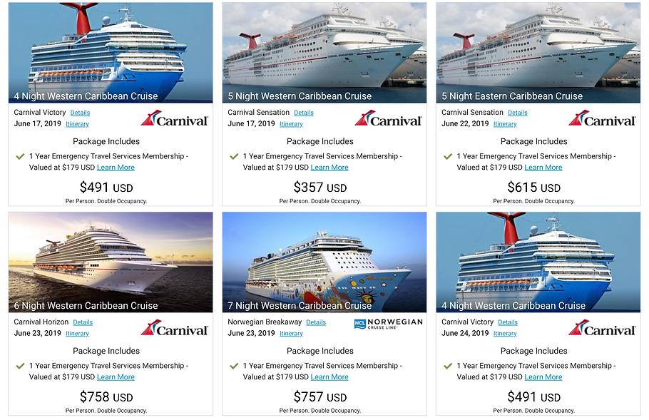 SG Resorts Cruise Vacations