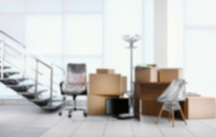 Moving cardboard boxes and personal belo