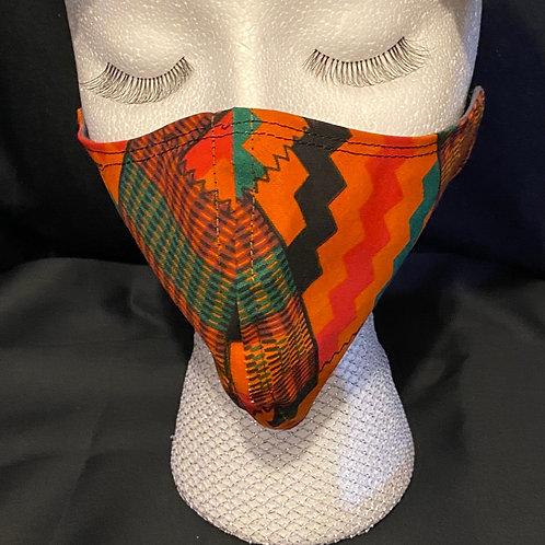 Kente fabric mask