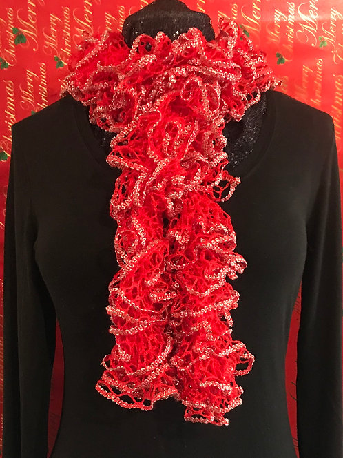 Candy Cane Red Scarf