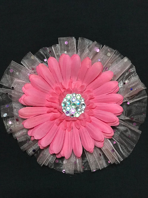 Medium Pink with Rhinestone center