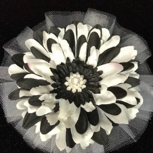 Medium Black & White with Rhinestone center