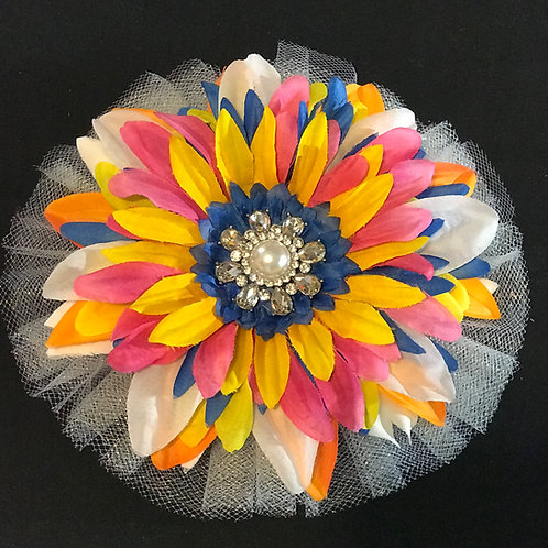 Medium Multi Color with Pearl center