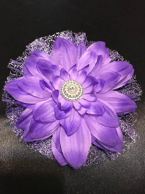 Large Purple with pearl rhinestone