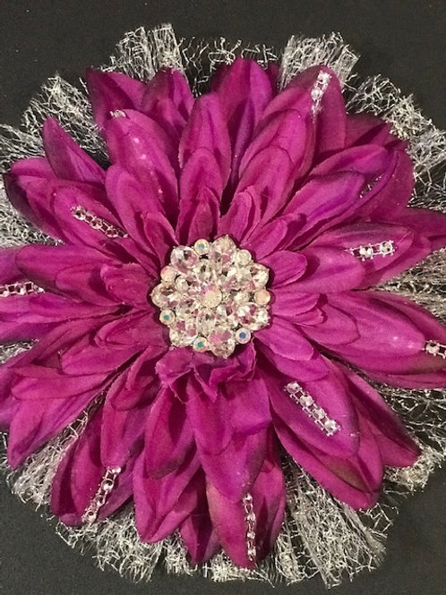 Large fuschia with rhinestones and bling