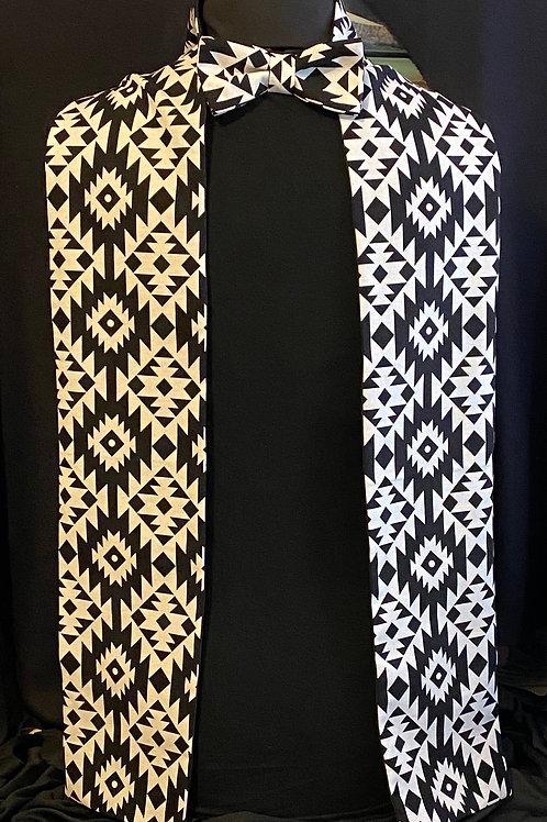 Solomon scarf & bow tie set