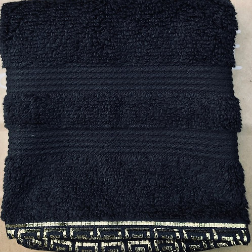 Black Terry Towel with edging