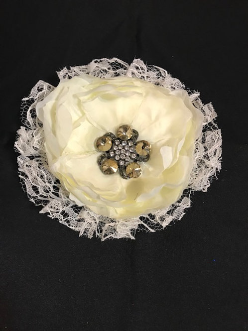 Small cream flower with lace