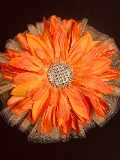 Large Spring Orange flower with Gold center