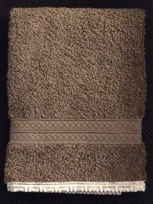 Tan Terry Towel with Border